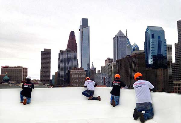Roof replacement in Philly condo project