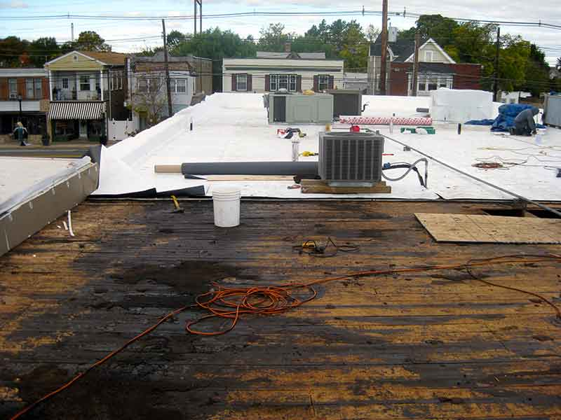 NJ commercial roof replacement